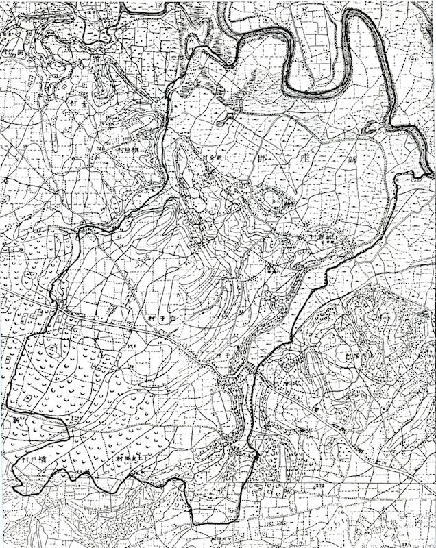 明治13年~14年陸地測量部測量 第一師管地方二万分一迅速測図
