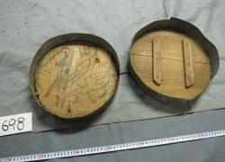 ブリキ製円形容器