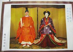 (1)皇太子殿下 美智子妃殿下写真(2)昭和天皇馬上写真